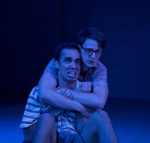 Tom Conroy and Guy Simon in Jasper Jones. Image by Lisa Tomasetti.